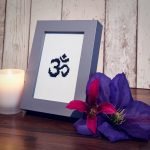 Sida Yoga Om Aum Cross Stitch Framed International Yoga Day Special Offer Handmade Craft Embroidery Unique Gift Special Dressed Set