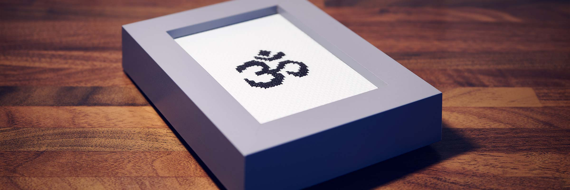 Sida Yoga Om Aum Cross Stitch Framed International Yoga Day Special Offer Handmade Craft Embroidery Unique Gift Special Lie Flat Banner