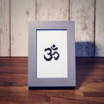 Sida Yoga Om Aum Cross Stitch Framed International Yoga Day Special Offer Handmade Craft Embroidery Unique Gift Special Stand Glass Frame